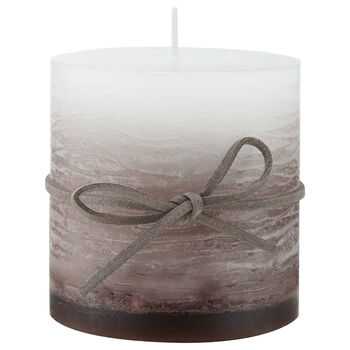 Gradient Candle with Leather Rope Detail