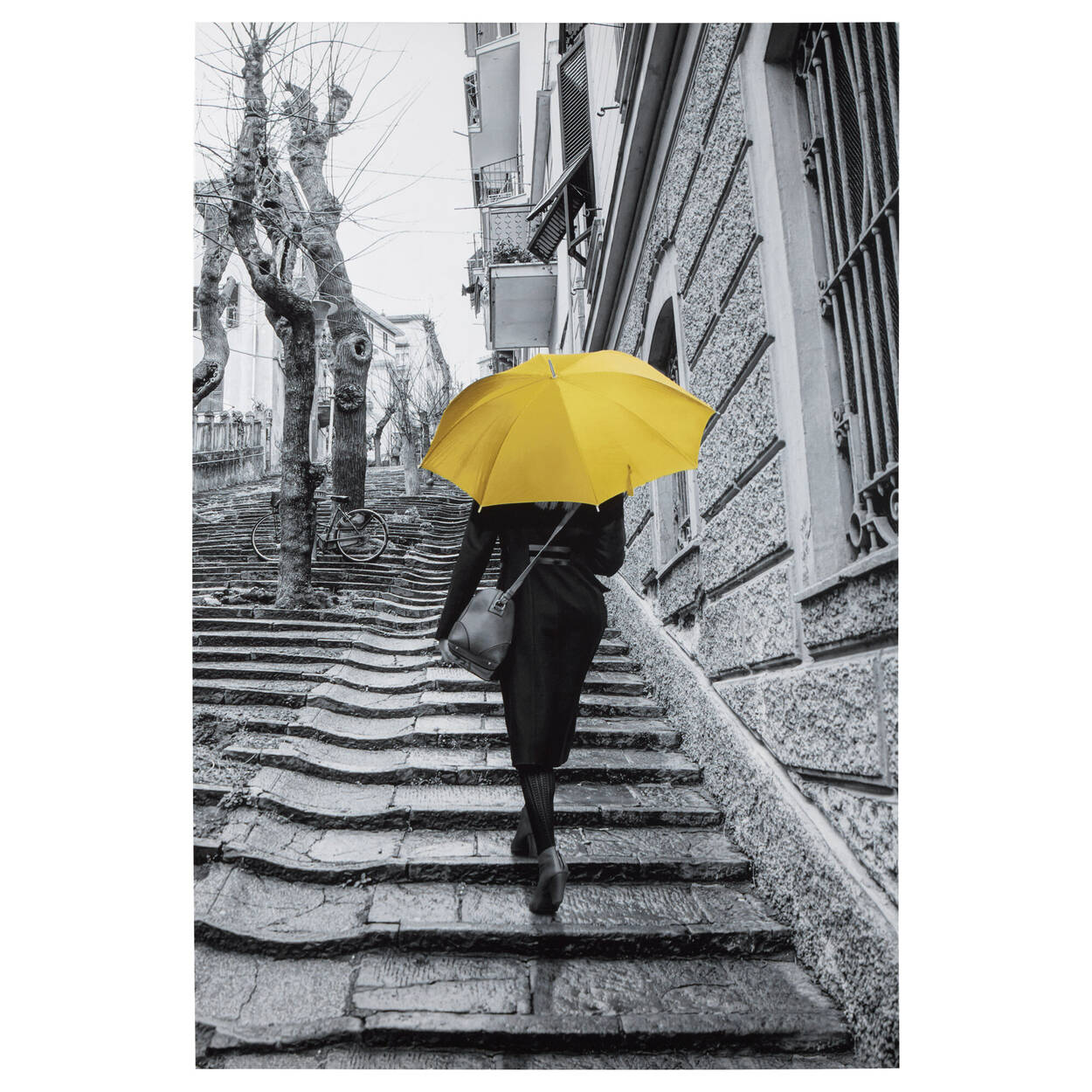 Woman with Umbrella Printed Canvas