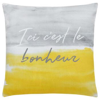"""Happy Decorative Pillow 18"""" X 18"""""""