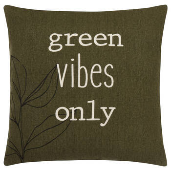 Green Vibes Only Cushion Cover