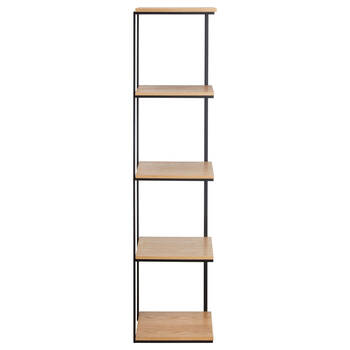 Metal and Natural Wood Shelf