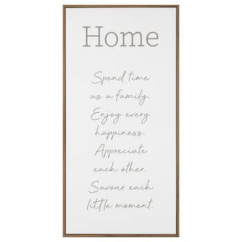 Home Typography Framed Art
