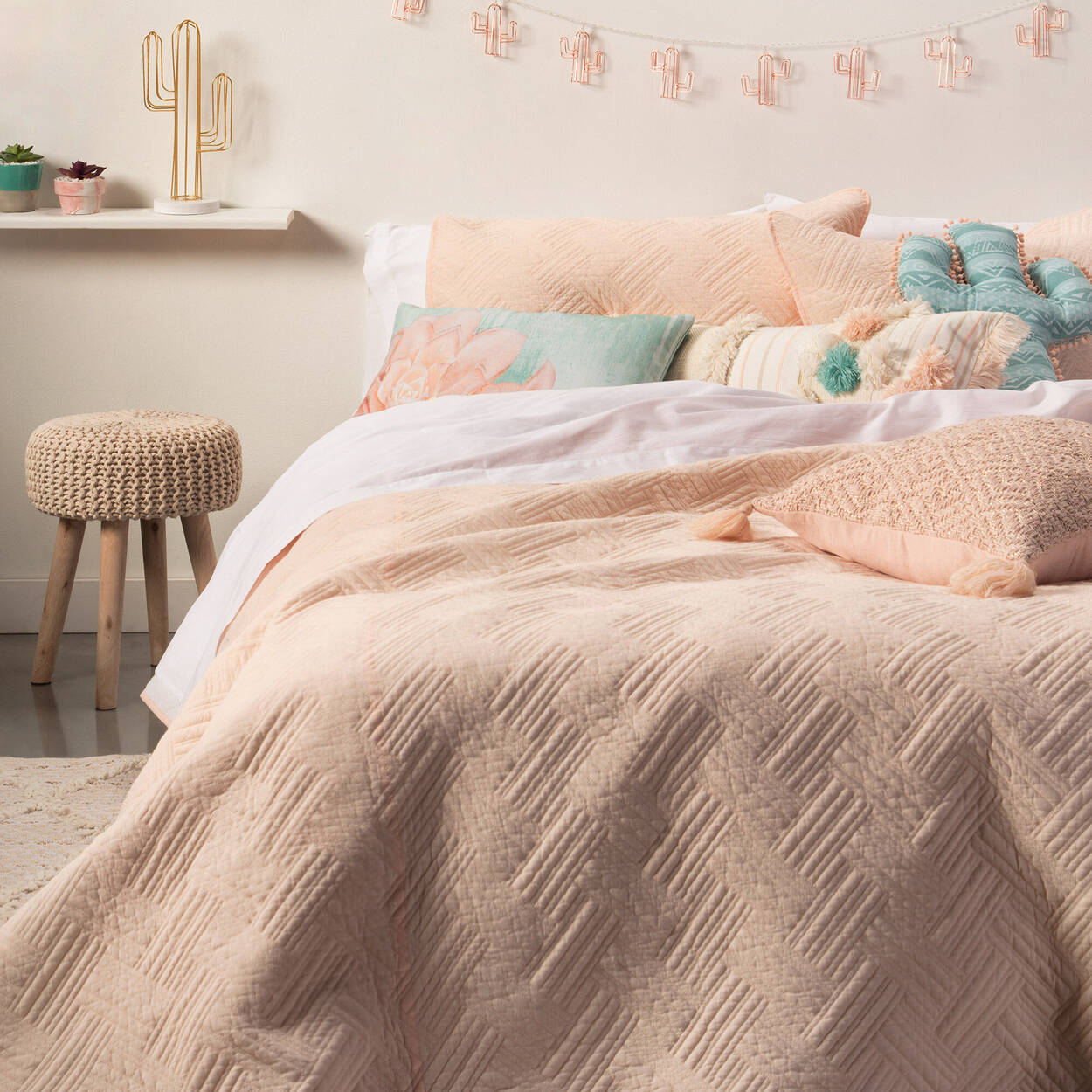 "Adri Cactus-Shaped Decorative Pillow 17"" X 13"""