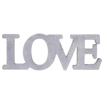 Cement Look Decorative Word - Love