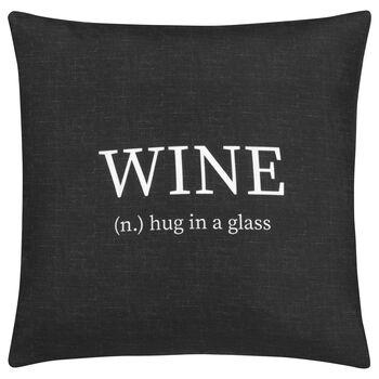 """Housse de coussin décoratif Wine 18"""" X 18"""""""