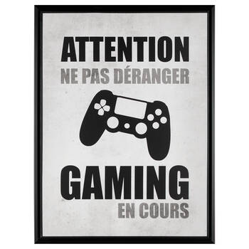 Gaming en Cours Framed Art