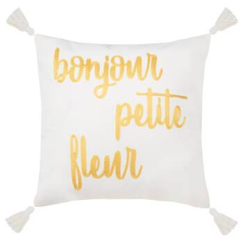 "Melisse Decorative Pillow With Pom-Poms 16"" X 16"""