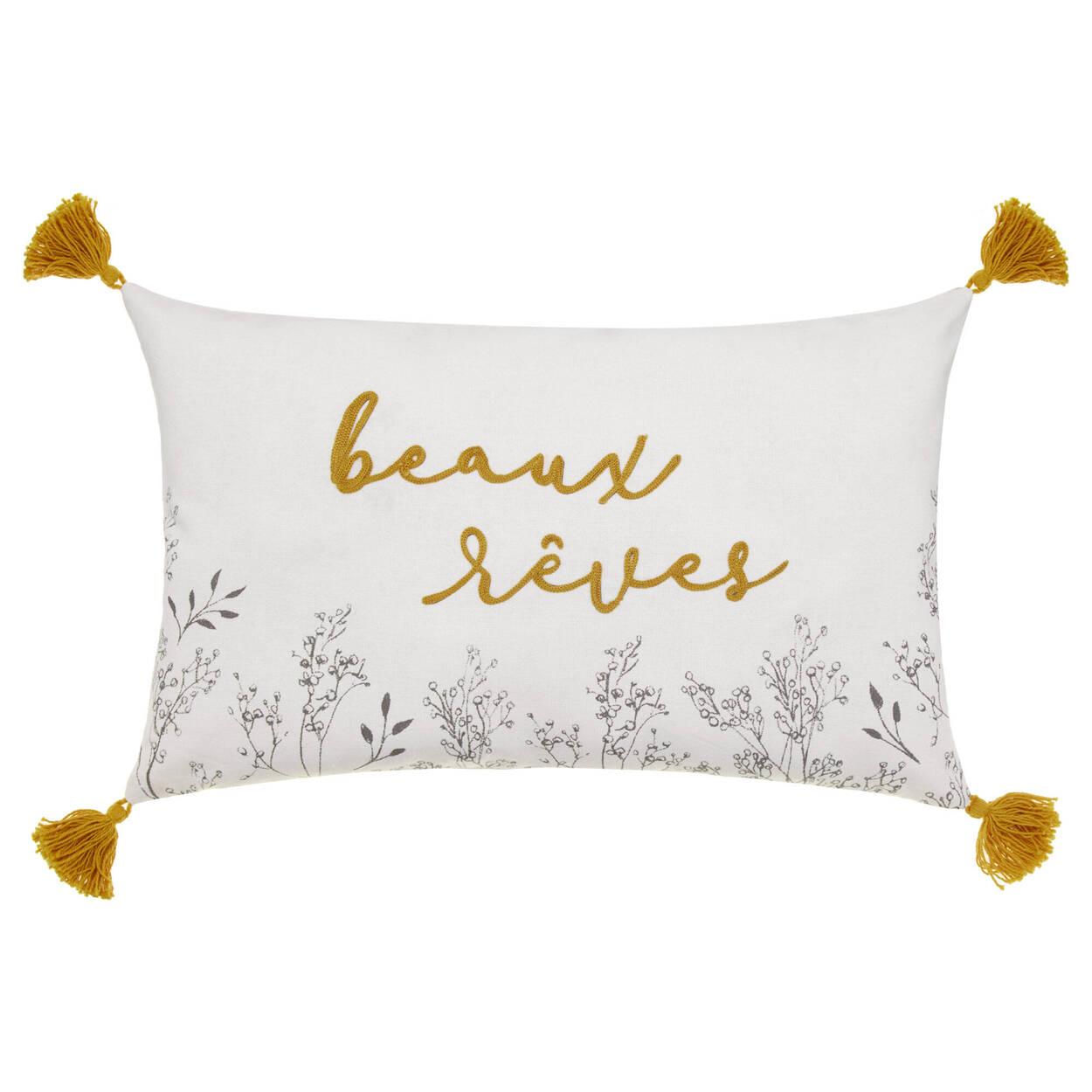 """Coussin décoratif Beaux Rêves 16"""" x 10"""""""