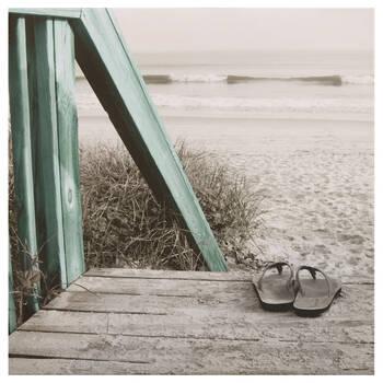 Beach and Flip Flops Canvas I
