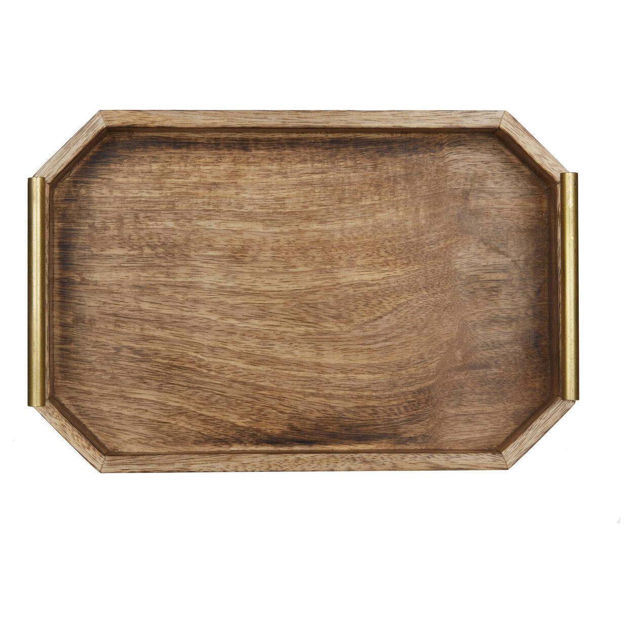 Plateau en bois avec poignées