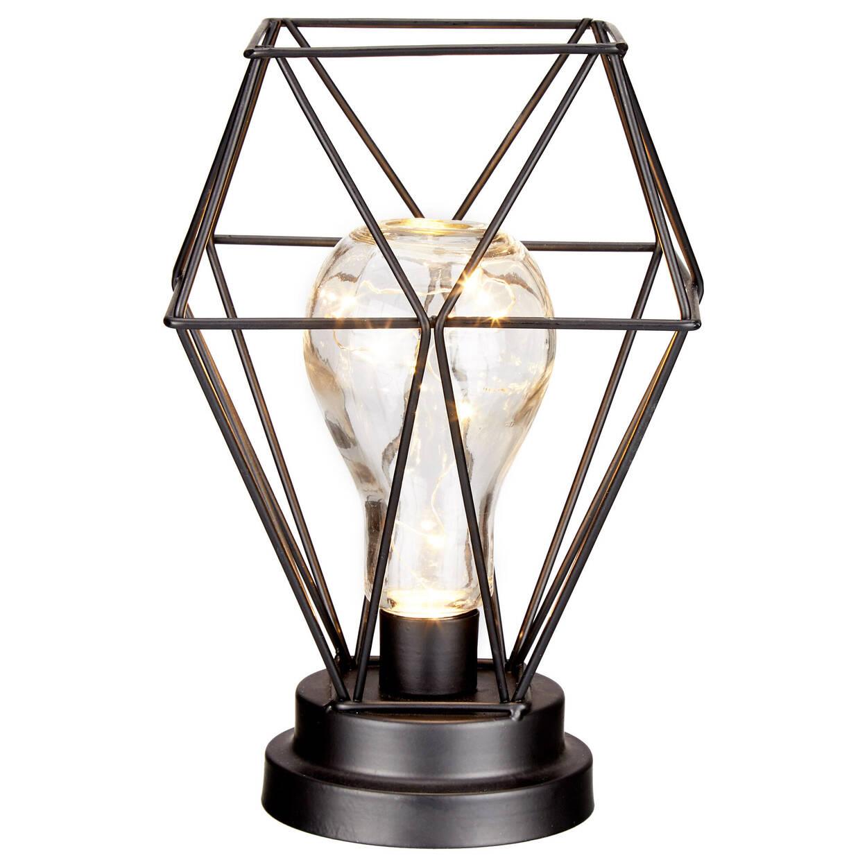 Ampoule géométrique avec lumière DEL