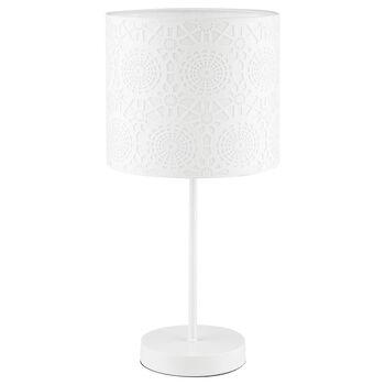 Lampe de table ajourée effet dentelle