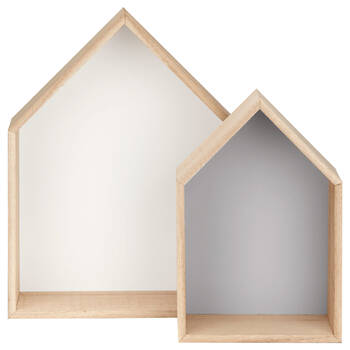 Set of 2 House Shelves