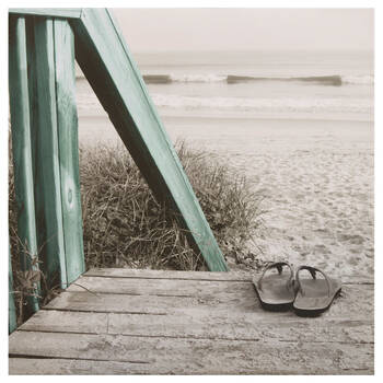 Beach and Flip Flops Canvas I