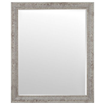 Whitewashed Frame Mirror
