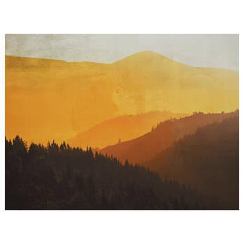 Tableau imprimé de montagnes jaunes