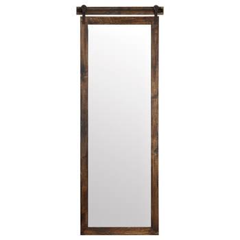 Miroir look de porte de grange