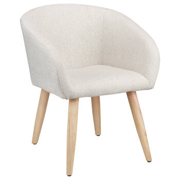 Fabric Lounge Chair With Wooden Legs