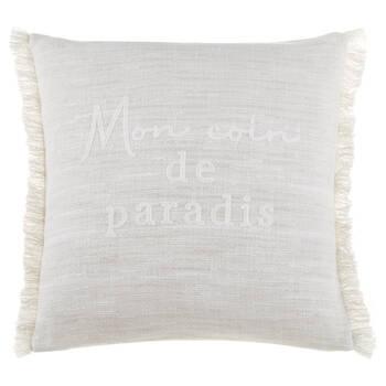 "Amina FrenchTypography Decorative Pillow 19"" x 19"""