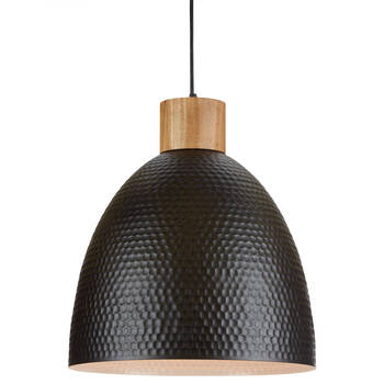 Metal and Wood Ceiling Lamp