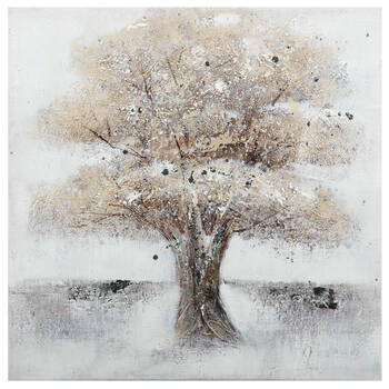 Tree Oil Painted Canvas