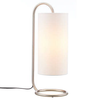 Lampe de table en métal et en tissu