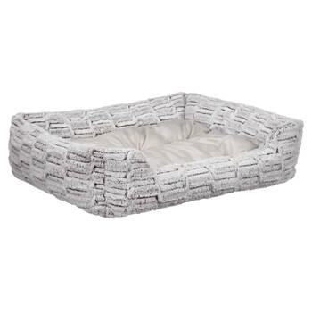 Silver Fox Faux Fur Pet Bed