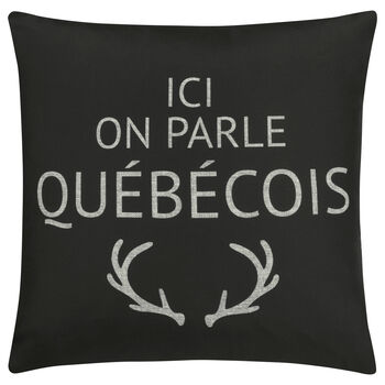 "Québécois Decorative Pillow Cover 18"" X 18"""