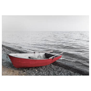 Boat by the Sea Printed Canvas