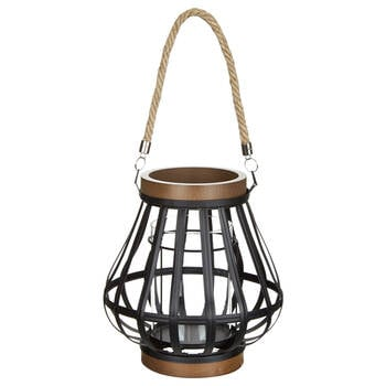 Wood-Like & Metal Lantern