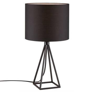 Lampe de table géométrique en métal