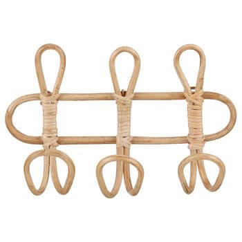 Set of 3 Rattan Hooks