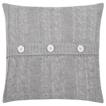 "Amy Knit Decorative Pillow 18"" X 18"""