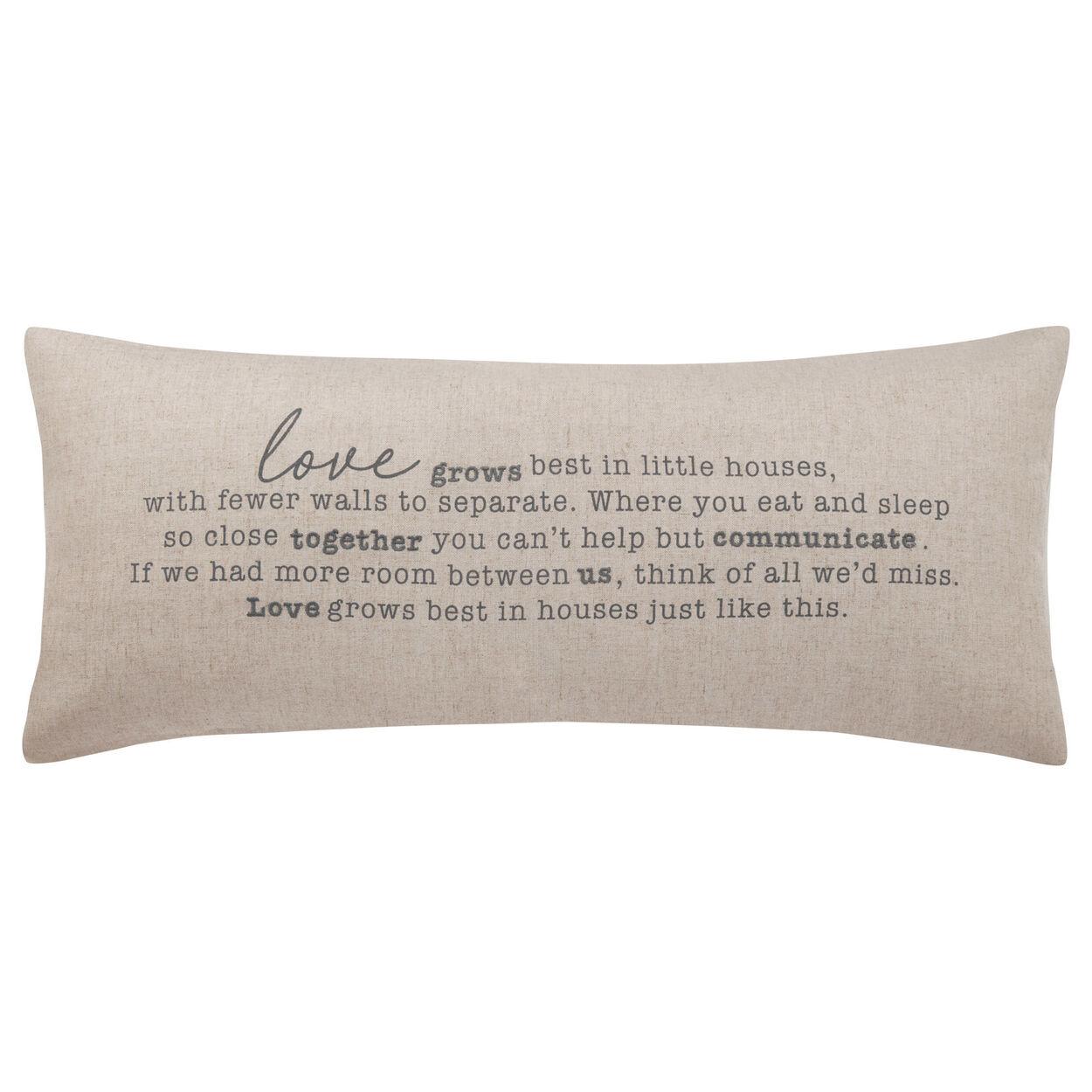 """Love Decorative Lumbar Pillow 15"""" X 33"""""""