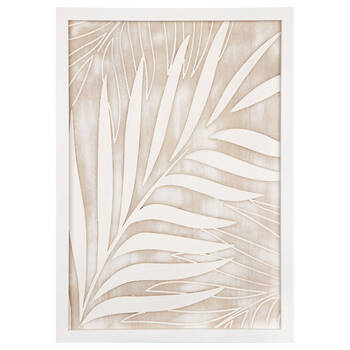 Wooden Palm Leaves Wall Art