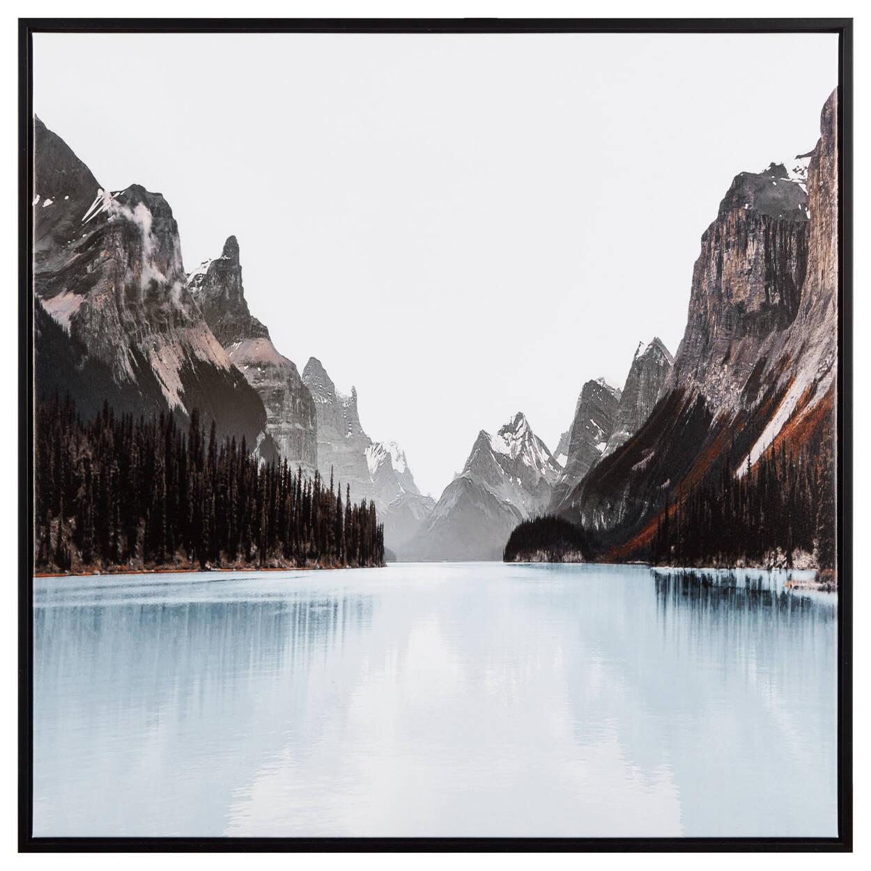 Tableau encadré lac bleu