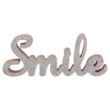 Decorative Glitter Word Smile
