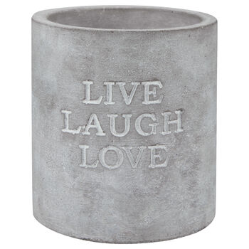 Cement Candle with Typography