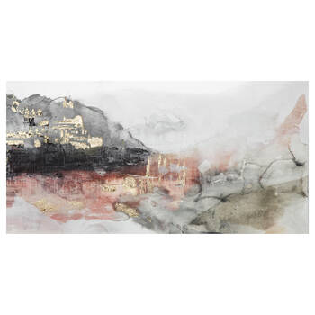 Abstract Printed Canvas with Gel Embellishments