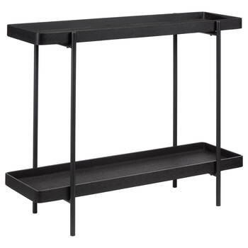 Black Woven Console Table