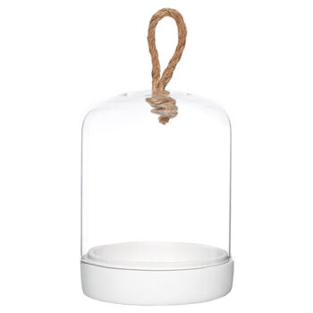 Glass and Cement Dome Candle Holder