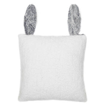 "Cierra Faux Fur Decorative Pillow with Ears 15"" X 15"""