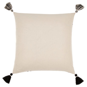 "Cora Decorative Pillow Cover with Pom-Poms 18"" X 18"""