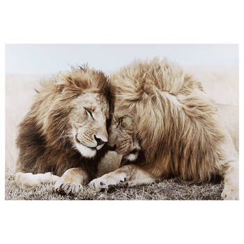 Two Lions Printed Canvas