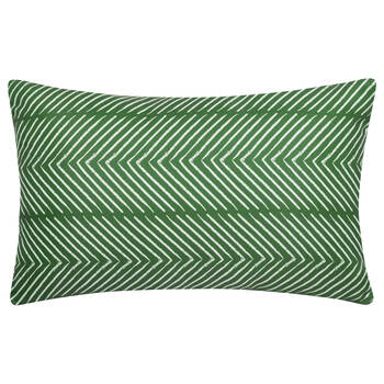 "Chevrons Water-Repellent Decorative Lumbar Pillow 13"" X 20"""