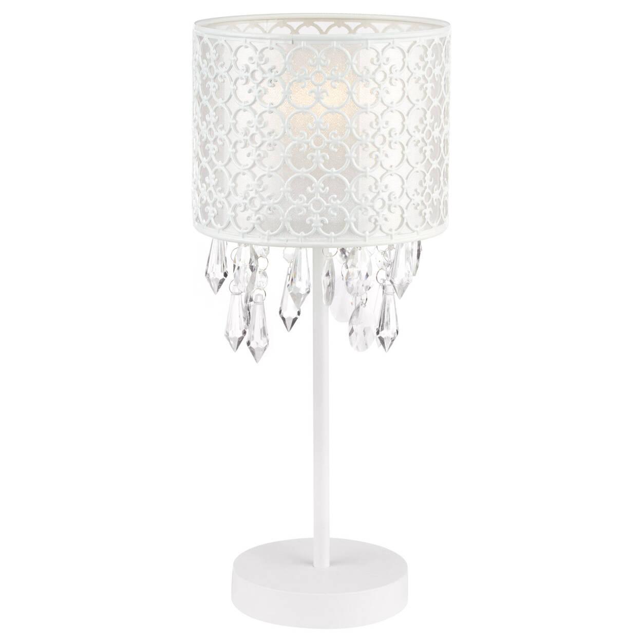 Lampe de table baroque ajourée avec gouttelettes décoratives