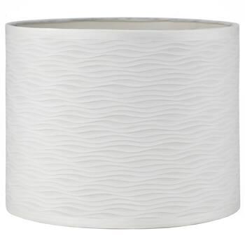 Abat-jour ondulé en imitation de soie