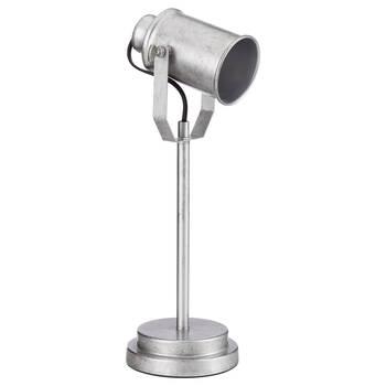 Lampe de table projecteur en métal galvanisé