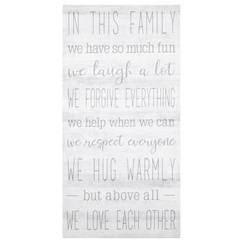 Tableau imprimé typographie Family