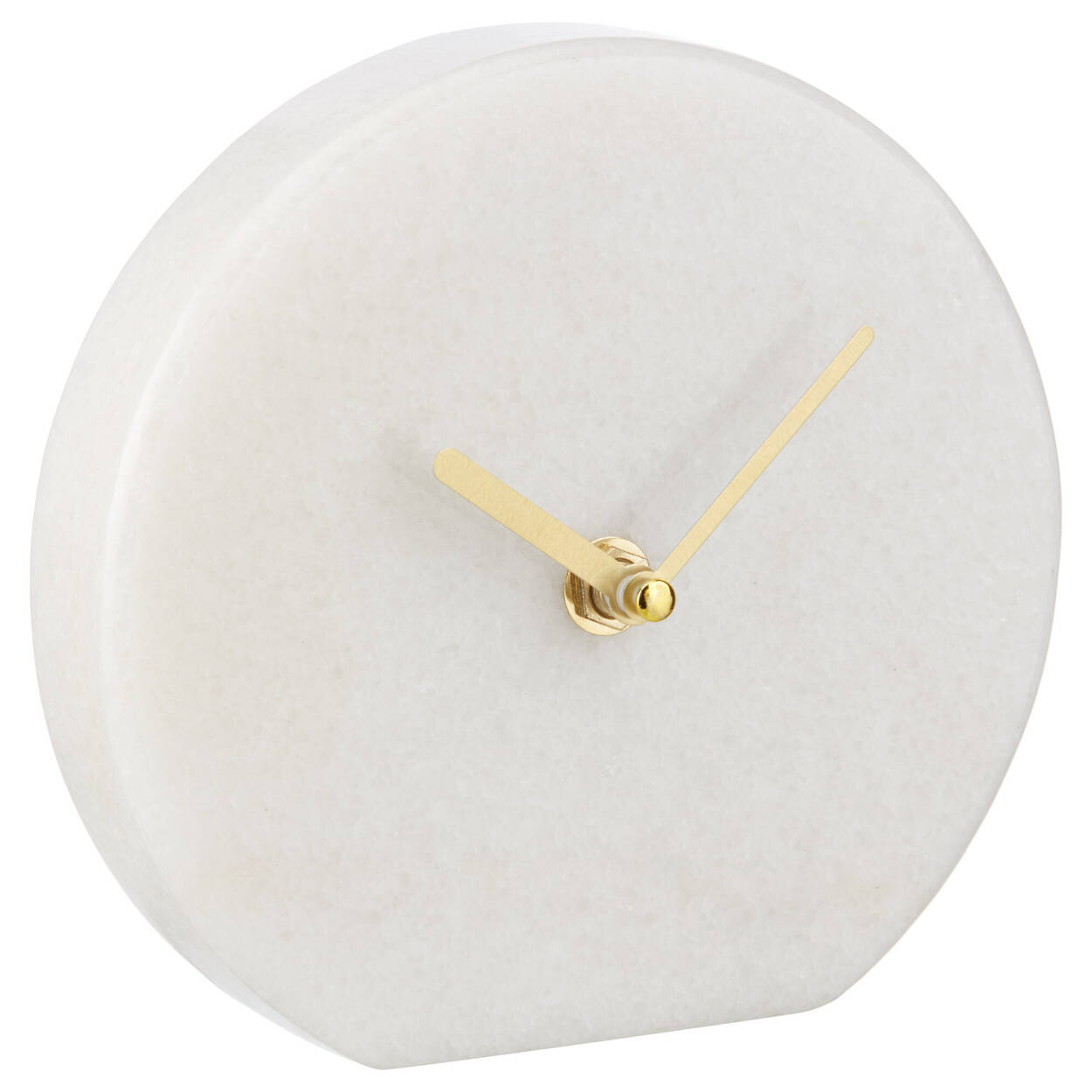 White Marble Table Clock